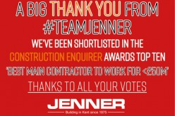 Jenner Shortlisted for Construction Enquirer Award